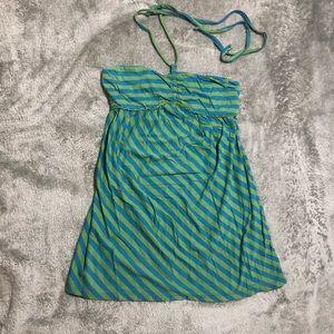 ARIZONA -  Striped strapless mini dress Size M